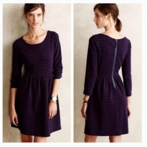6 Maeve Anthropologie Navy Red Striped Dress
